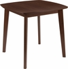 Whitman 31.5'' Square Walnut Finish Wood Dining Table with Clean Lines and Braced Legs [ES-CB-6805BBH-W-GG]