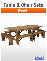 Wood Table & Chair Sets