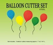 BALLOON GUMPASTE CUTTER SET