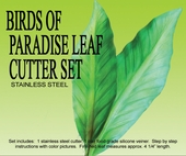 "BIRDS OF PARADISE LEAF <font color= ""RED""> NEW! </FONT>"