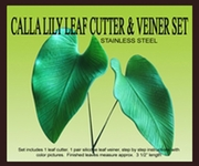 "CALLA LILY LEAF GUMPASTE CUTTER <FONT COLOR =""RED""> NEW ITEM! </FONT>"
