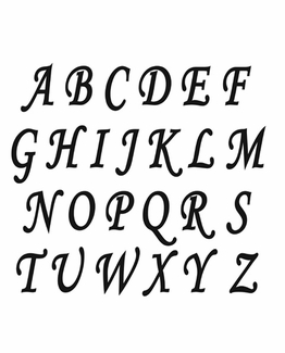 CALLIGRAPHY UPPER CASE ALPHABET MAT