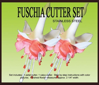 FUSCHIA GUMPASTE CUTTER SET NEW ITEM