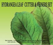 "HYDRANGEA LEAF GUMPASTE CUTTER SET <font color = ""red""> NOW IN STAINLESS STEEL </FONT>"