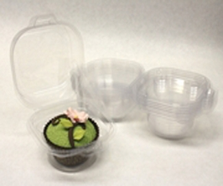 INDIVIDUAL DISPOSABLE CUPCAKE CONTAINER