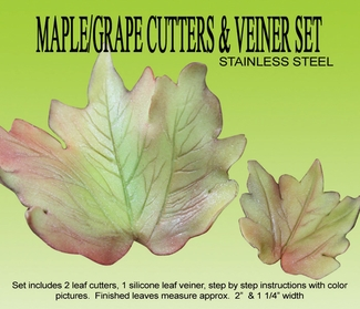 MAPLE / GRAPE LEAF GUMPASTE CUTTER SET NOW IN STAINLESS STEEL