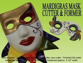MARDI GRAS MASK CUTTER & FORMER SET NOW IN STOCK!