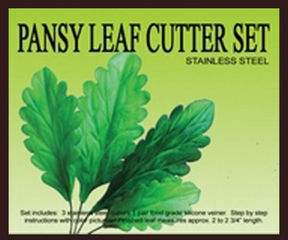 PANSY LEAF CUTTER SET NEW!