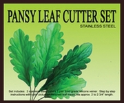 "PANSY LEAF CUTTER SET <font color= ""RED""> NEW! </FONT>"