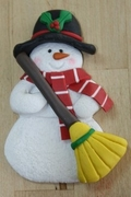 SNOWMAN WITH BROOM MOLD