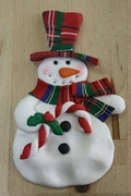 SNOWMAN WITH CANDY CANE MOLD