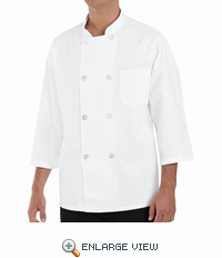 0402WH 3/4 Sleeve White Chef Coat