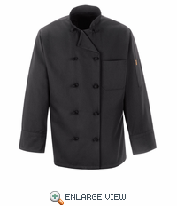 0427 Knot Button Spun Polly Chef Coat
