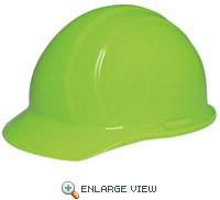 19360 AMERICANA 4PT RATCHET HI VIZ LIME Hard Hat - CASE OF 12