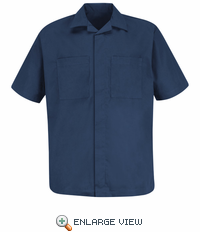 1P60NV Convertible Collar Navy Shirt Jacket