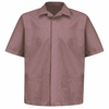 1S00BU Pincord Short Sleeve Burgundy Shirt Jacket