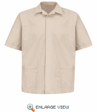 1S00TN Pincord Short Sleeve Tan Shirt Jacket