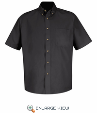 1T22BK Short Sleeve Black Meridian Preformance Twill Shirt