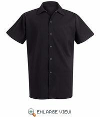5035 Spun Poly Short Sleeve Long Cook Shirt (2 Colors)