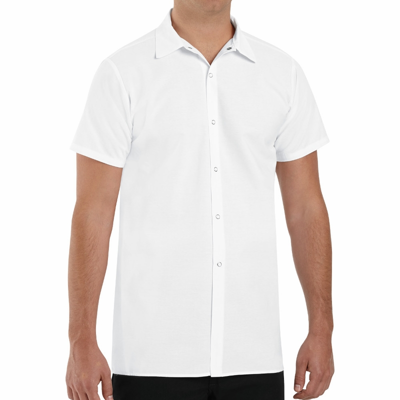 142622d94258 5050WH White Long Cook Shirt
