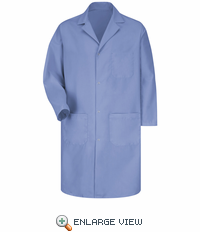5080LB Men's Light Blue Gripper Front Lab Coat