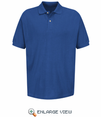 7701RY Men's Royal Blue Polo Basic Pique