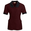 9K03BU Burgundy Women's Microfiber Shawl Collar Tunic