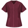 9P01BU Women's Burgundy Easy Wear Tunic