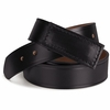 AB12BK Black 100% Leather Belt
