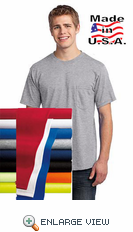All-American Tee w/Pocket. USA100P