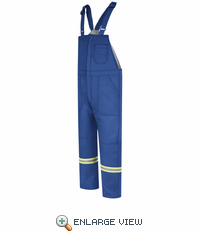 BLCTRB  EXCEL FR® ComforTouch® Royal Blue Deluxe Insulated Bib Overall with Reflective Trim