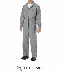 CC14HB Fisher Herringbone 100% Cotton Coveralls, Snap Front
