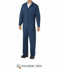 CC14NV Navy Cotton Coveralls, Concealed Snap Front