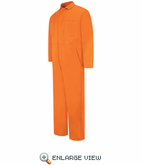 CC14OR Snap Front Orange Cotton Coveralls