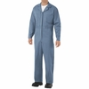 CC14PB Postman Blue Cotton Coveralls, Concealed Snap Front