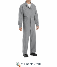 CC16HB Fisher Herringbone Cotton Coveralls Concealed Button Front