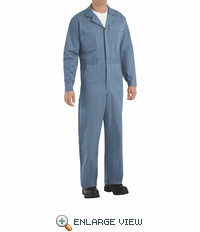 CC16PB Postman Blue Cotton Coveralls Button Front
