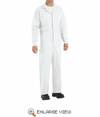 CC16WH White Cotton Coveralls Button Front