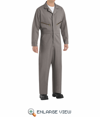Red Kap CC18GY Gray Zip-Front Cotton Coveralls