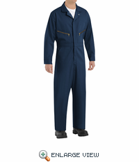 Red Kap CC18NV Navy Zip-Front Cotton Coveralls