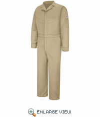 CLD6KH Deluxe Coverall - EXCEL FR® Khaki ComforTouch® - 7 OZ.