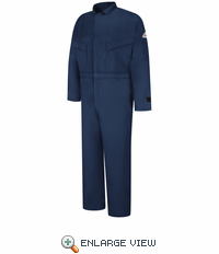 CLZ4NV EXCEL FR® ComforTouch® Deluxe Navy Coverall with leg zippers