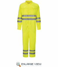 CMD8HV Hi-Vis Deluxe Coverall with Reflective Trim - CoolTouch® 2 - 7 oz.