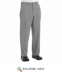 Cook Pant with Zipper Fly - Black/White Check - 2030