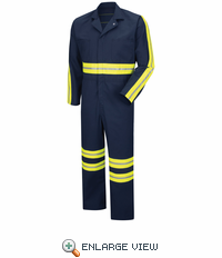 CT10EN Enhanced Visibility Twill Action Back Navy Coverall