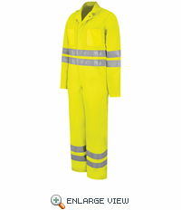 CT10HVB Fluorescent Yellow/Green Hi-Visibility Zip-Front Coverall