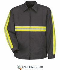 Enhanced Visibility Charcoal Perma-Lined Jacket - JT50EC