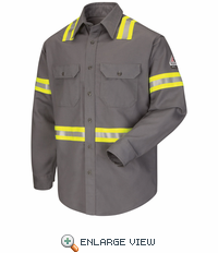 Enhanced Visibility Uniform Shirt - EXCEL FR ComforTouch - 7 oz. - CAT 2 - SLDTGY