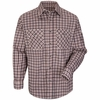SLD6 Excel Flame Resistant ComforTouch Plaid Uniform Shirt