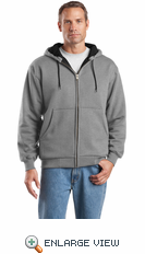 Heavyweight Full-Zip Hooded Sweatshirt with Thermal Lining. CS620